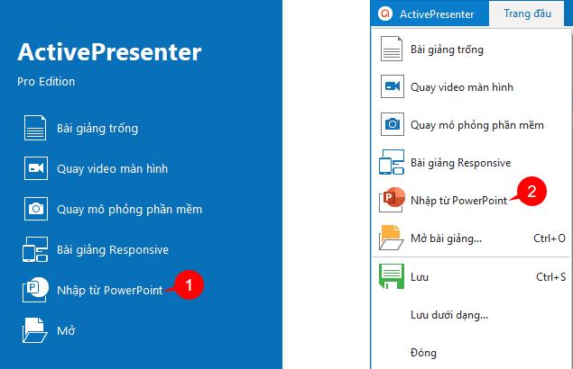 Nhập Bài Giảng từ PowerPoint vào Phần Mềm ActivePresenter để Tạo Bài Giảng Điện Tử