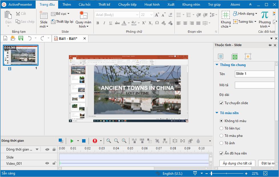 Quay màn hình trình chiếu PowerPoint