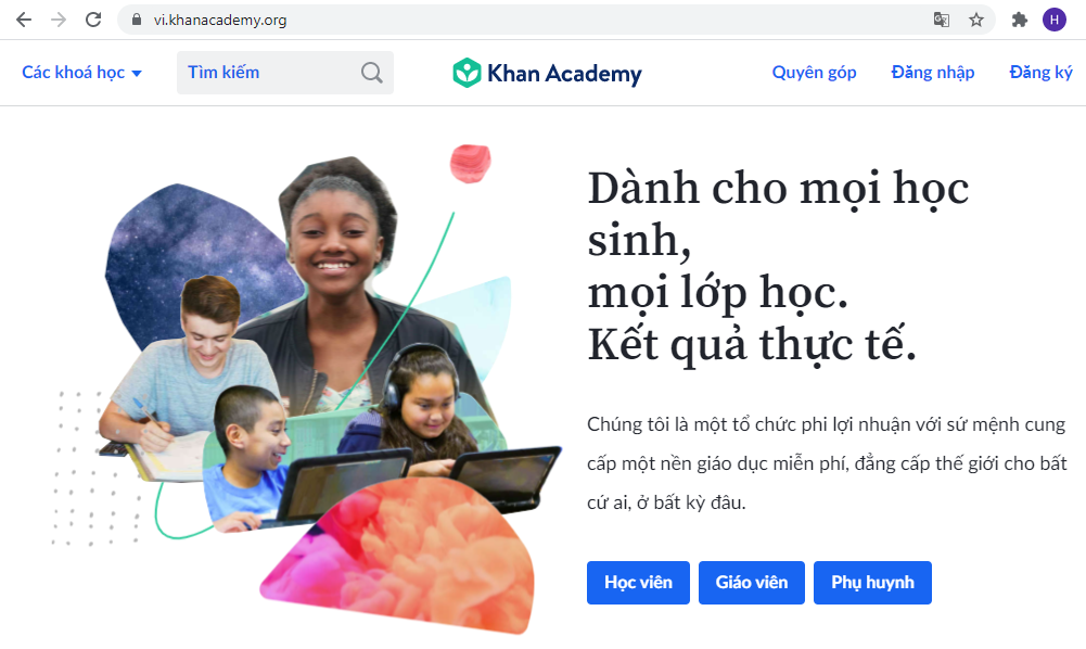 Website Học Trực Tuyến Miễn Phí Dành Cho Mọi Lứa Tuổi