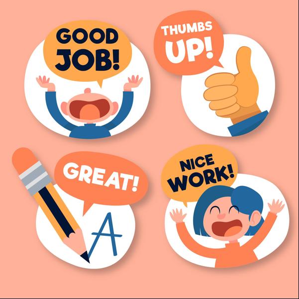 Sử dụng ngôn từ động viên trong phản hồi